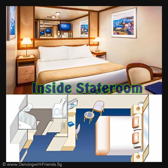 These staterooms are the perfect place to recharge your batteries. Most affordable option, featuring two twin beds or a queen-size bed. Other amenities include a refrigerator, hair dryer, TV, closet and bathroom with shower.