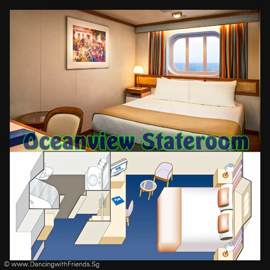 Enjoy the added benefit of a view of the ocean from either a picture window or porthole that brings in natural light. This stateroom includes all the amenities of an interior room.